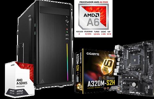 PC Ensamblada AMD A6 9500, 8GB 2666MHz, 254GB PCI + 1TB HDD