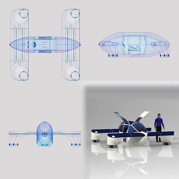 Lorenz Drone Car High Quality Render 4 M
