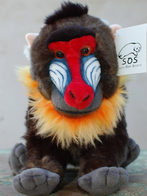 Mandrill Plush Animal