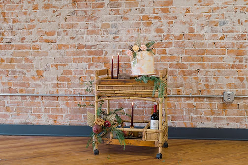 Wedding Cake Bar Cart Bohemian Boho
