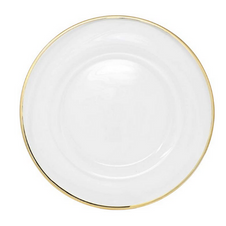GOLD RIMMED CHARGER