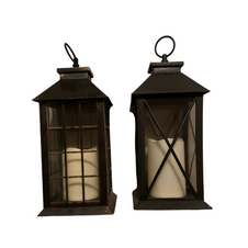 BLACK LANTERN WITH CANDLE