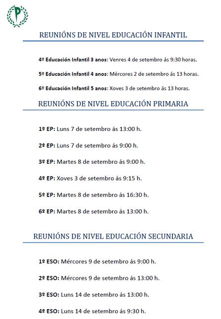 REUNIÓNS DE NIVEL