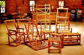 móveis em bambu