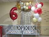 Украшение лофта шар-цифра 6