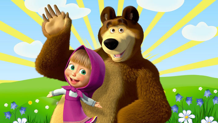 фотозона Маша и Медведь