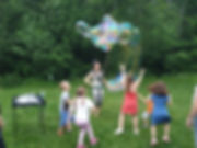Шоу мыльных пузырей в парке Мещерский