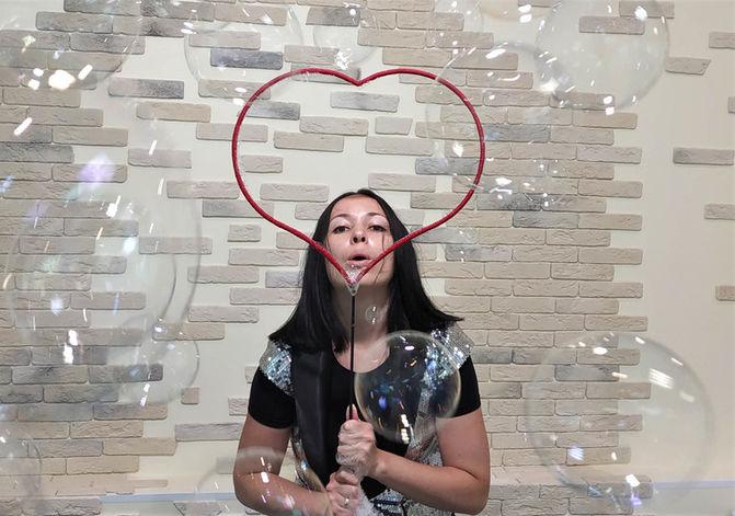Мыльные пузыри сердце