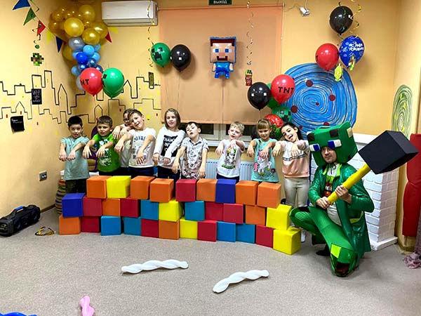 Организация детского праздника с Майнкрафт