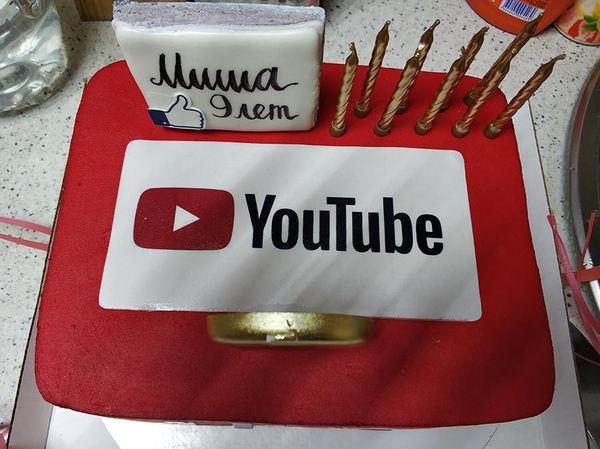 Торт YouTube