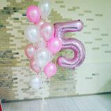 Эти шары разных цветов подчеркнут возраст именинника или дату, отмечаемую в этот день.