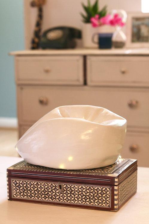 turquoise & gold globe lamp
