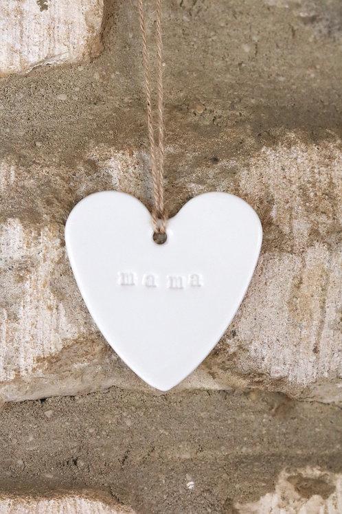 Porcelain wedding heart favours