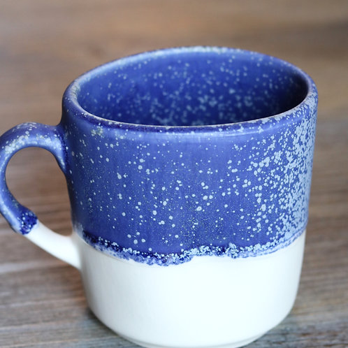 starry night squashed mug