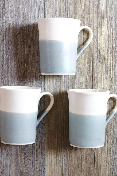 matt grey tall mug