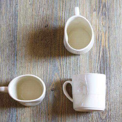 cream&sugar squashed mug