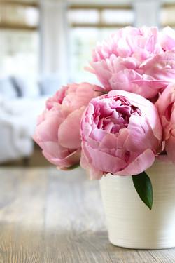 peony short vase
