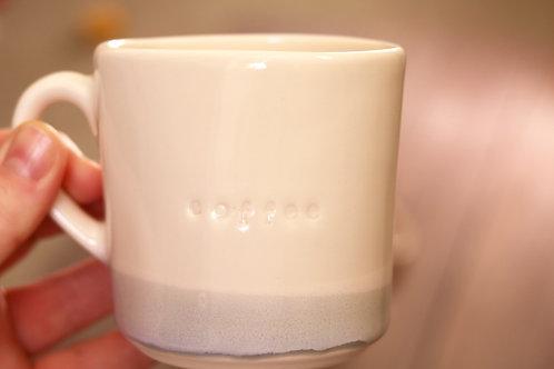 """Capri blue """"coffee"""" mug"""