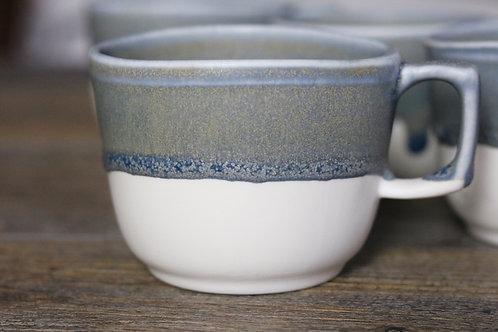 Blue grey espresso cup