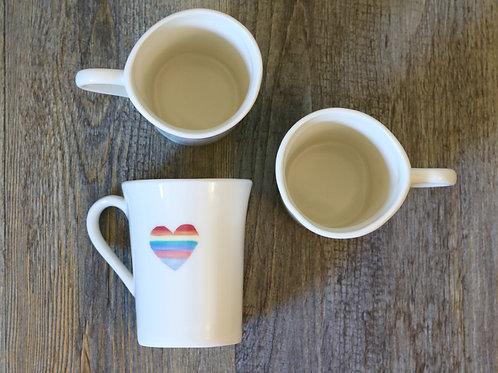 rainbow tea mug