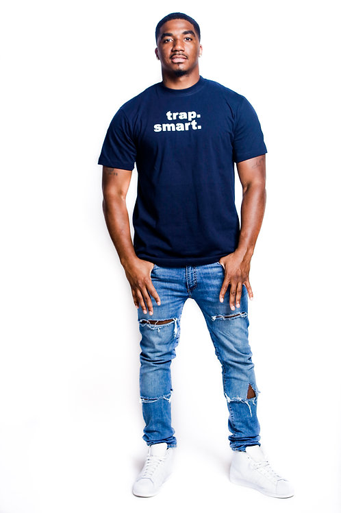 Blue Signature Logo Men's T-Shirt