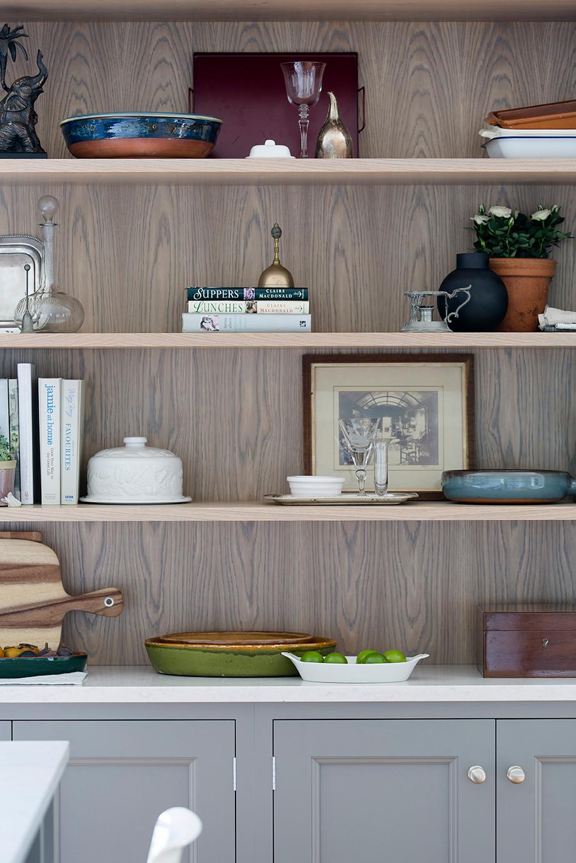 open kitchen dresser shelving