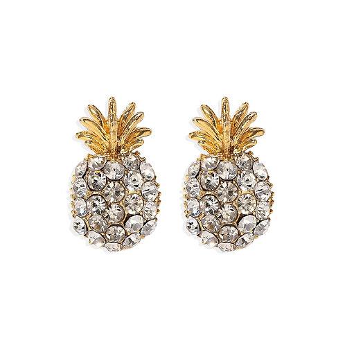 Glitzy Pineapple Studs