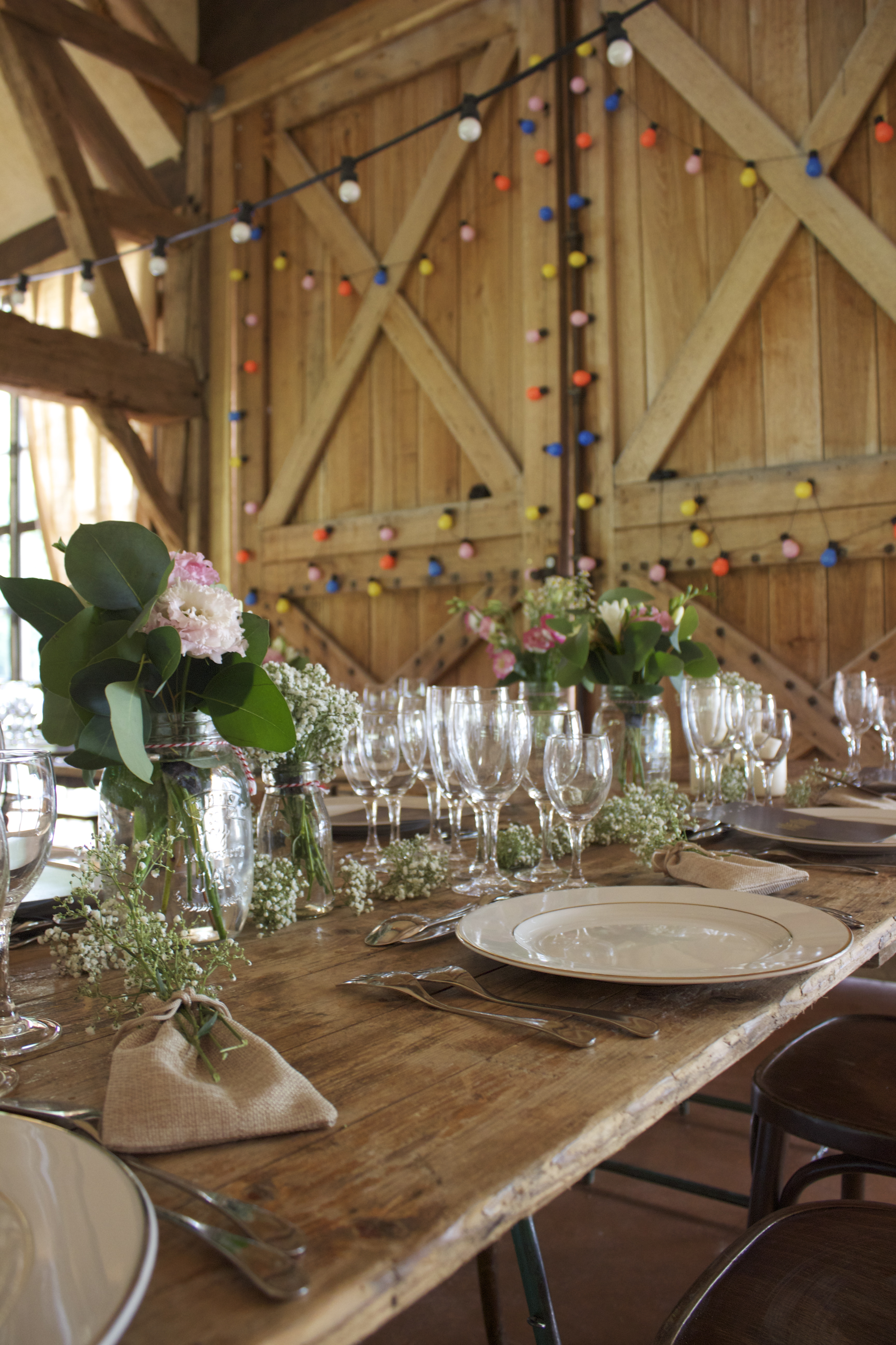 Art de la table mariage Bohême chic