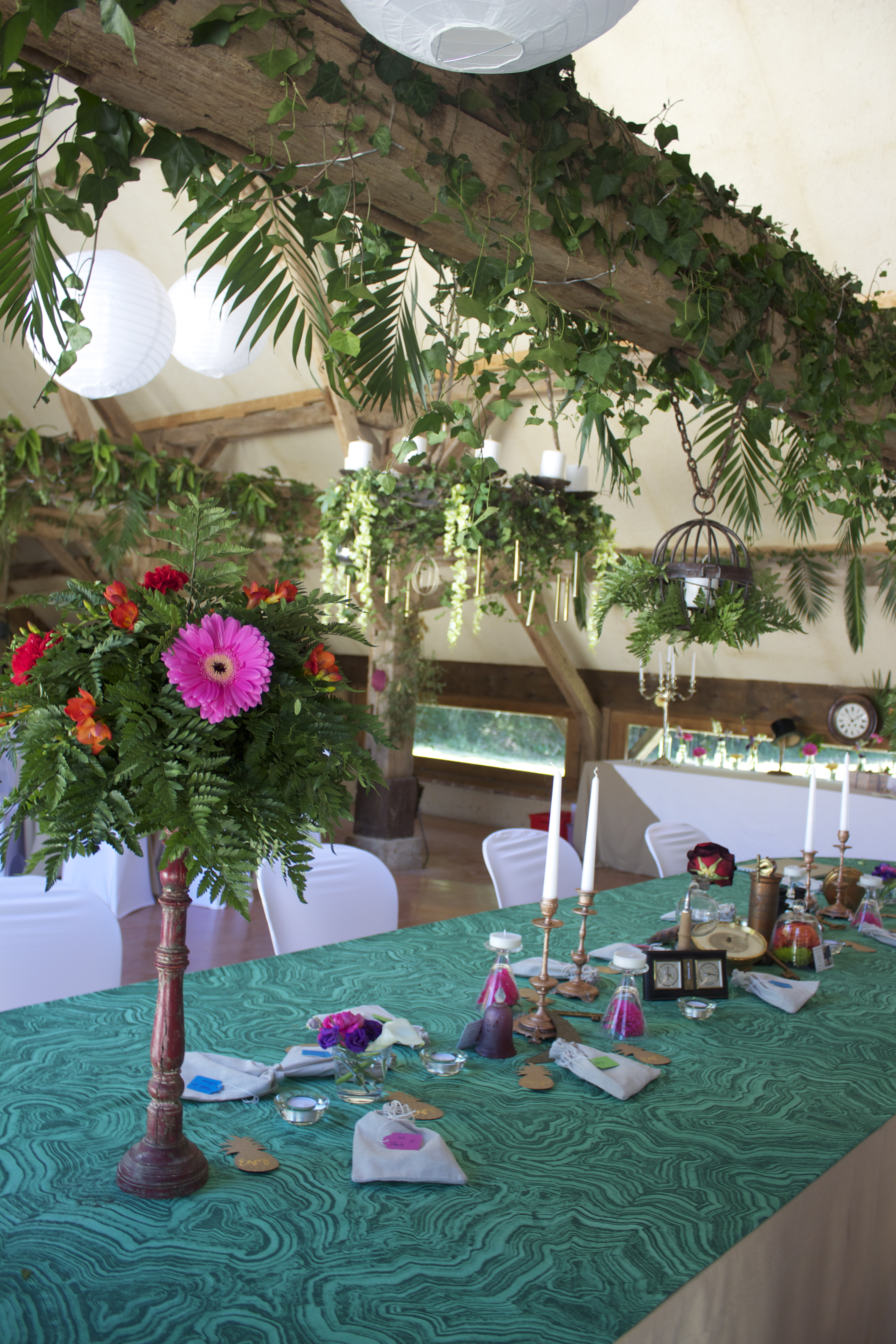 décoration florale exotique