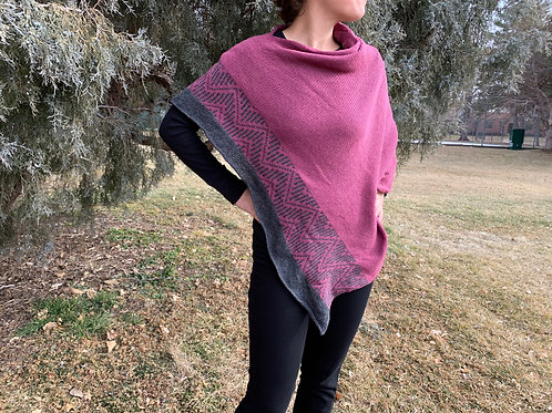 Park Poncho in Berry