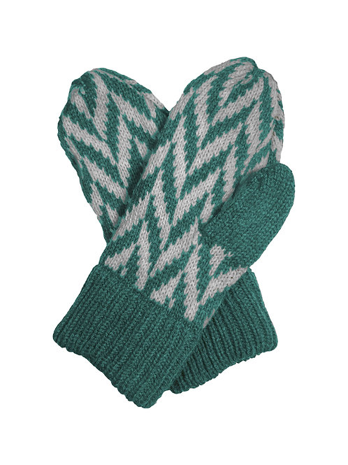 Montrose Mittens in Teal
