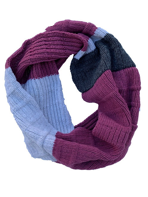 Crowley Scarf in Berry Stone