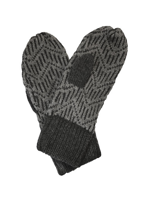 Pitkin Mittens in Charcoal