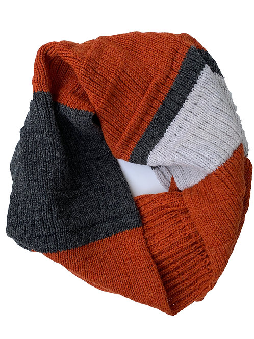 Crowley Scarf in Rust Charcoal