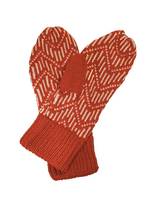 Pitkin Mittens in Rust