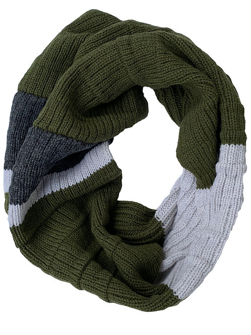 Crowley Scarf in Olive Stone