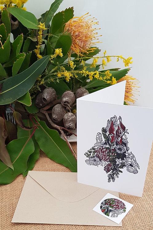 Christmas Card Native Tree