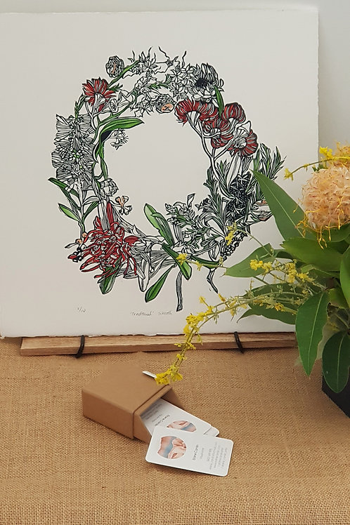 Original Print - Christmas Wreath
