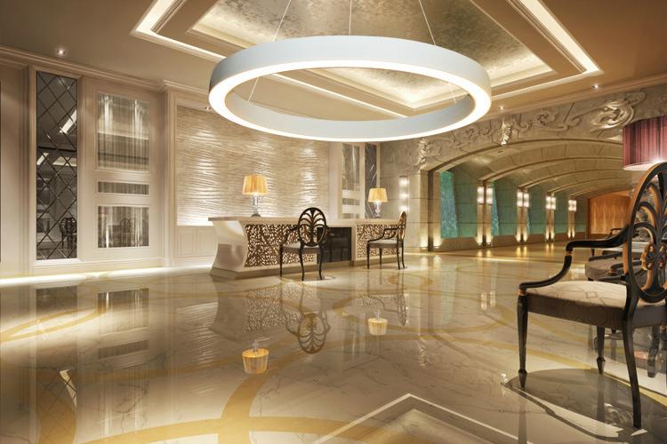 Halo - Sand White LC-011-ECO-017-IPO hotel lobby