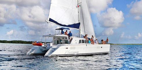 Champagne-Catamaran-Cozumel-Sail-Snorkel