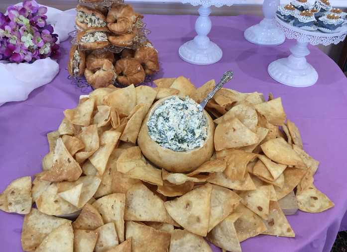 Spinach Artichoke dip made in-house!