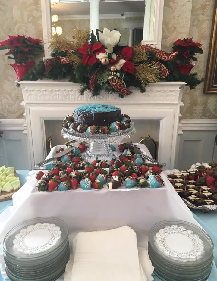 Cake & Chocolate Covered Strawberries