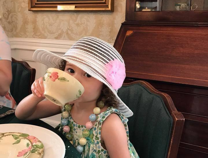 One of our cute little guests enjoying herself!