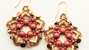 Colorful Components - Holiday Wreath Earrings