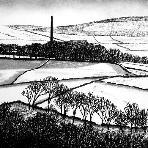 Calderdale Mill in Winter