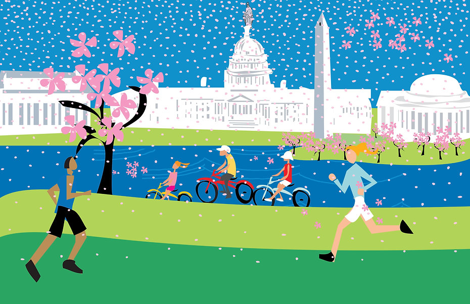 Spring in Washington, DC Poster