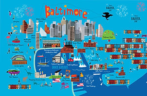 Funky Baltimore Map