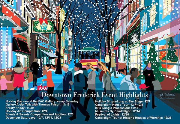 NIghtime Holiday Shoppers
