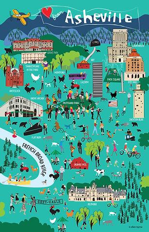 Funky Asheville Poster