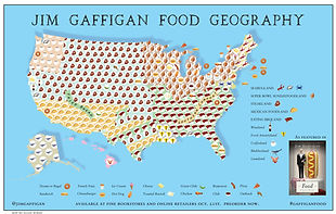 Jim Gaffigan Food Map